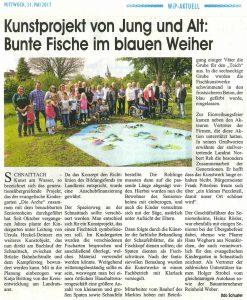 Weber-Bau unterstützt Kunstprojekt des Kindergartens