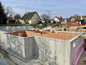Baufortschritt Ulmenhof im April 2021