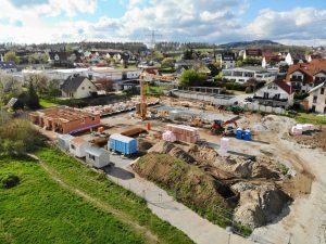 Baufortschritt Ulmenhof im Mai 2021