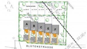 Reihenhäuser Schnaittach Blütenstraße Lageplan