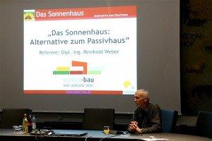 Vortrag Sonnenhaus, Reinhold Weber, Weber-Bau,