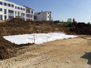 Bauarbeiten am Wohn- und Geschäftsgebäude in Schnaittach